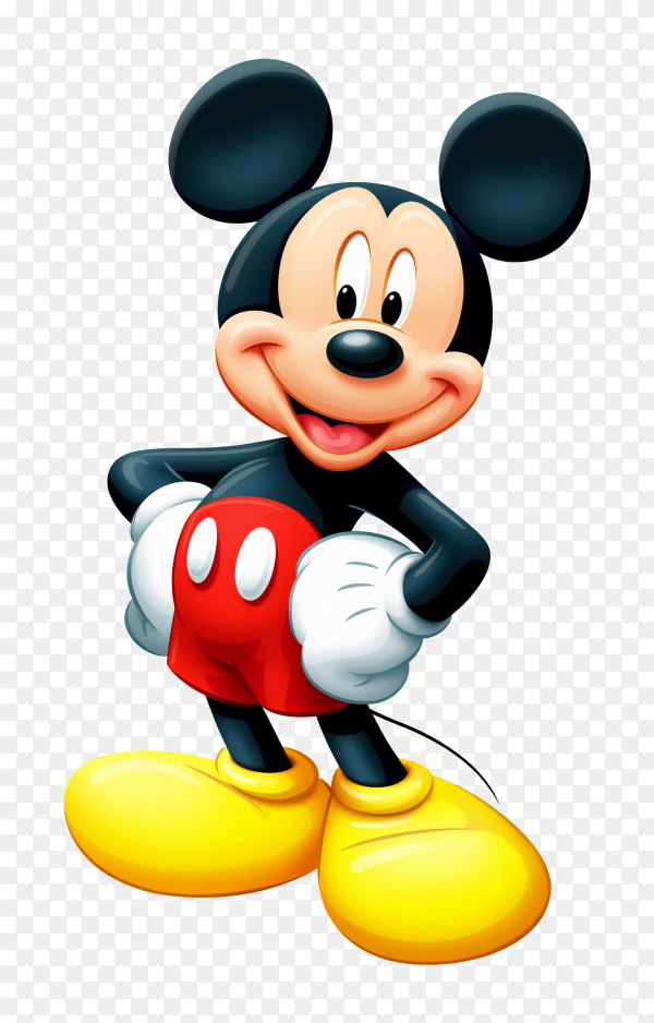 Mickey Mouse cartoon on transparent PNG