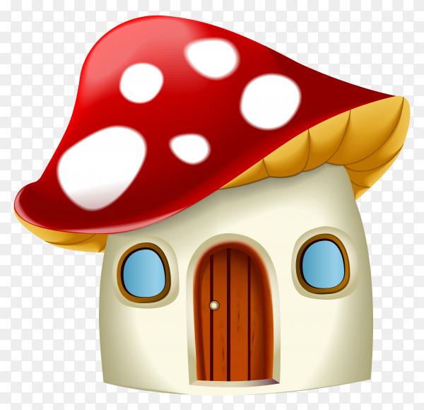Mushroom House Cartoon vector PNG