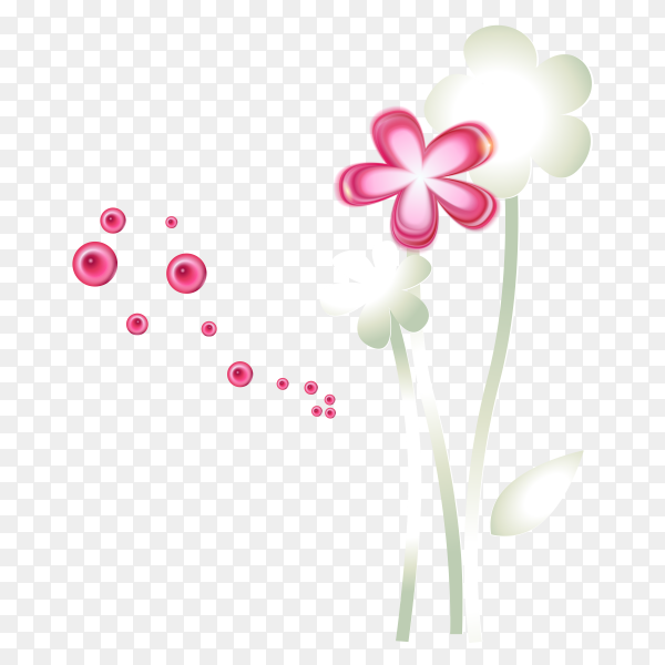Painted cartoon flowers Clipart PNG