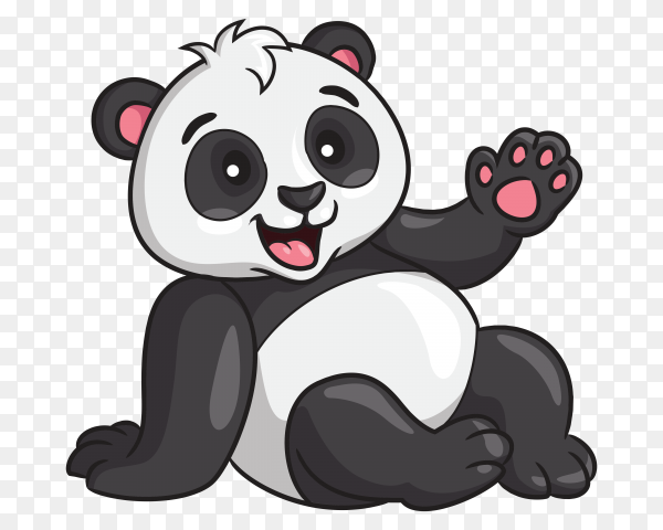 Panda cartoon style vector PNG
