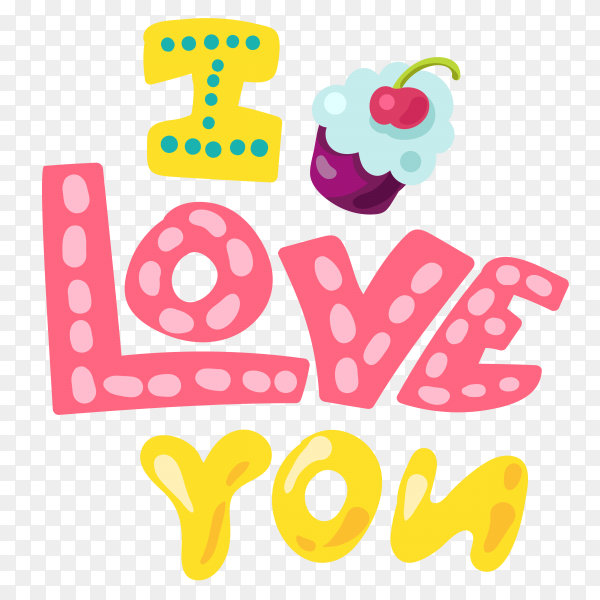 Romantic love patch doodle style vector PNG