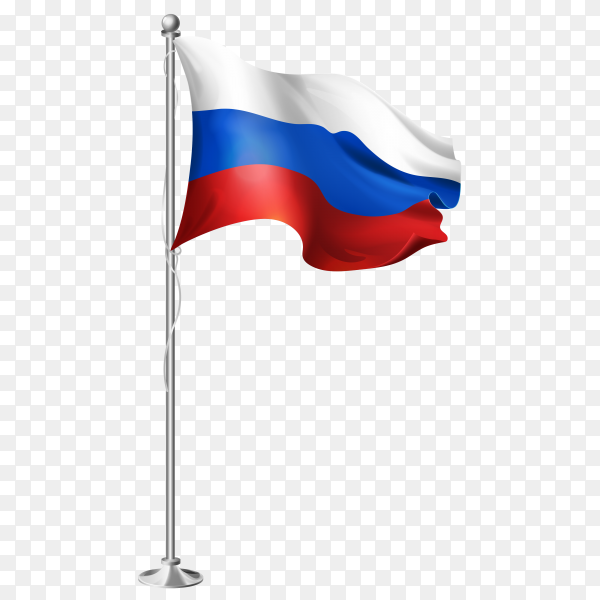 Russia Flag on transparent PNG