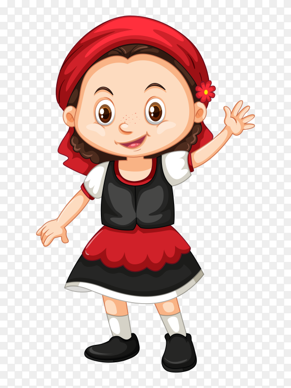 Smiling girl on transparent background PNG