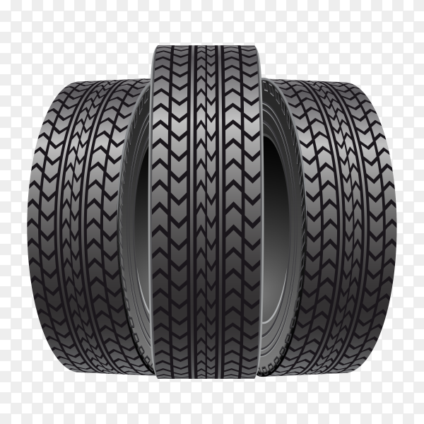 Three black wheels clipart PNG