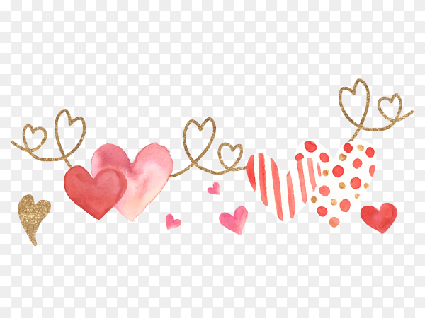 Valantine day heart design vector PNG