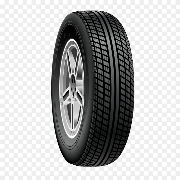 Wheel black for car vector PNG