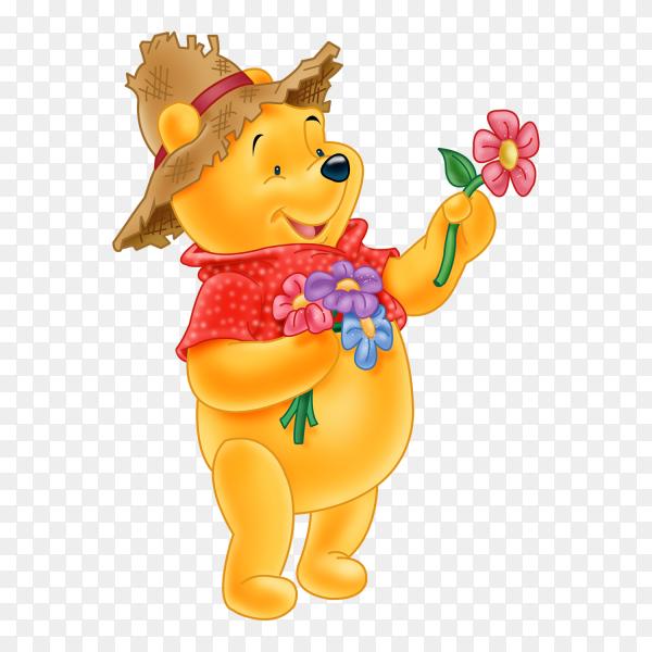 Winnie the Pooh cartoon vector PNG