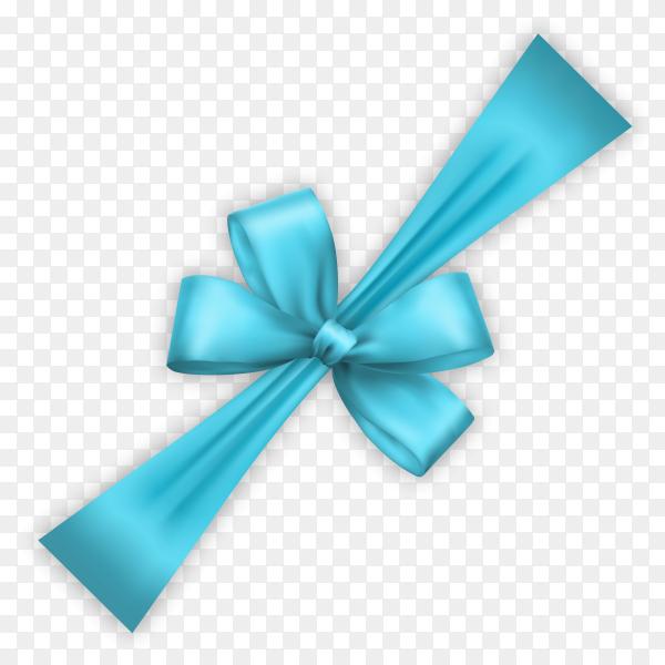 Blue bow ana Ribbon clipart PNG