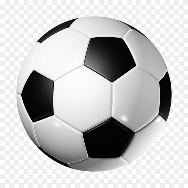 3D soccer ball on transparent background PNG