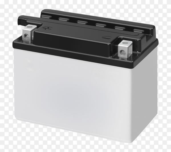 Accumulator battery car on transparent PNG