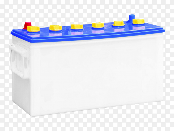 Accumulator battery isolated on transparent background PNG