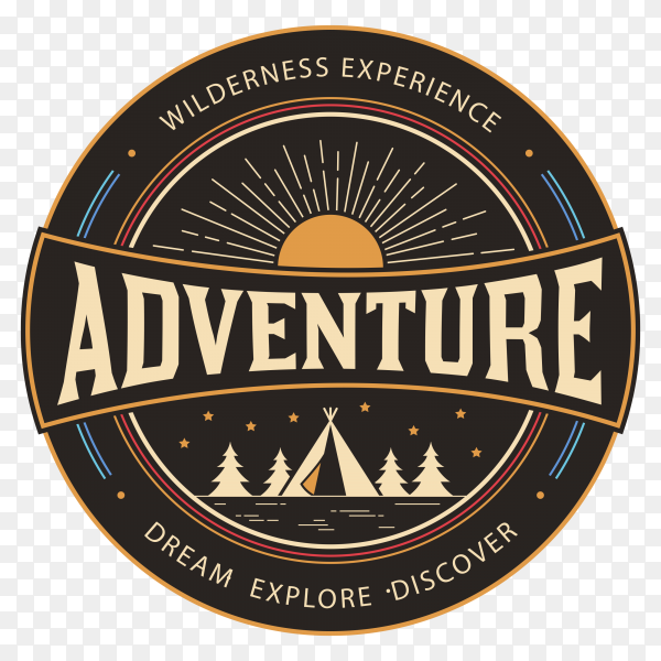 Gradient Abstract Company Logo Template: Adventure Logo Design On Transparent Background PNG