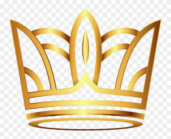Beautiful golden crown clipart PNG