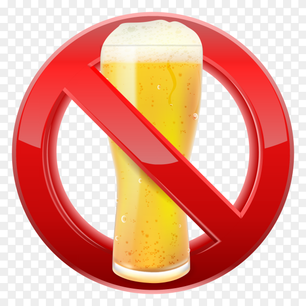 Beer are not allowed sign premium vector PNG