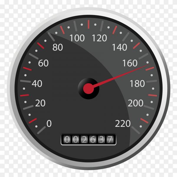 Black speedometer design clipart PNG