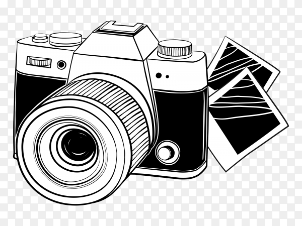 Camera with pictures clipart PNG