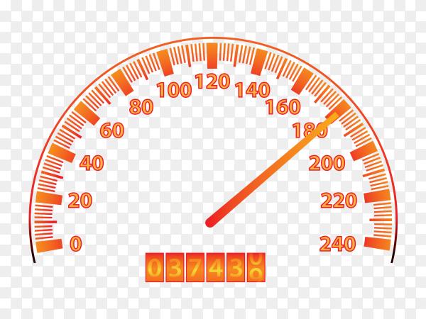 Car speedometer dashboard Premium vector PNG