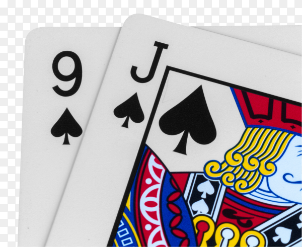 Casino cards on transparent background PNG