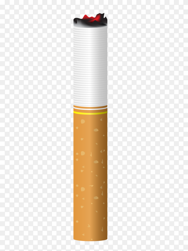 Cigarette isolated on transparent background PNG