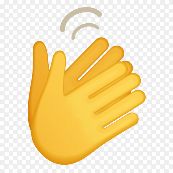 Clapping hands gestures emoji on transparent background PNG