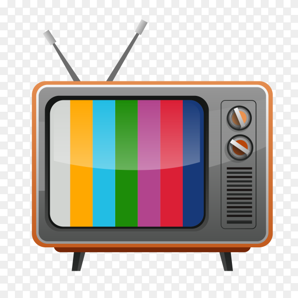 Colorful tv on transparent background PNG