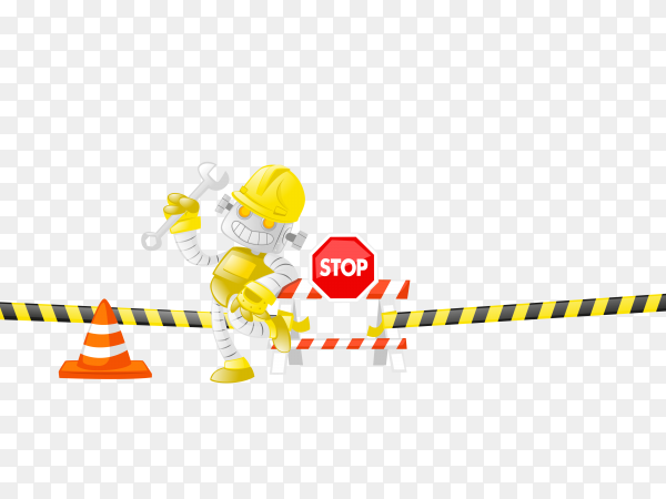 Construction worker Premium vector PNG