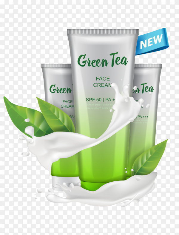 Cosmetic Product ad on transparent background PNG