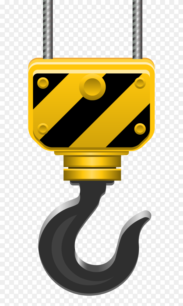 Crane hook on transparent background PNG