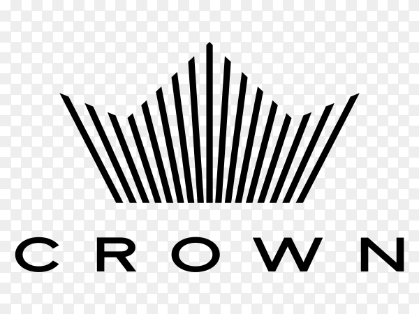 Crown logo icon style on transparent background PNG