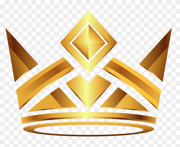 Crown modern gold Clipart PNG