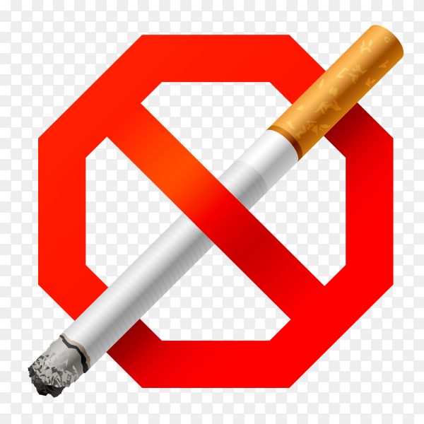 Dangers of smoking on transparent background PNG