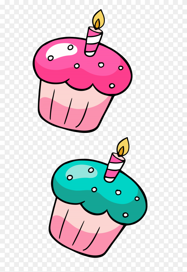 Delicious Cupcakes on transparent background PNG