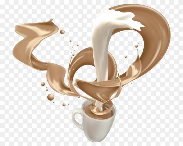 Delicious Milk tea drink Clipart PNG