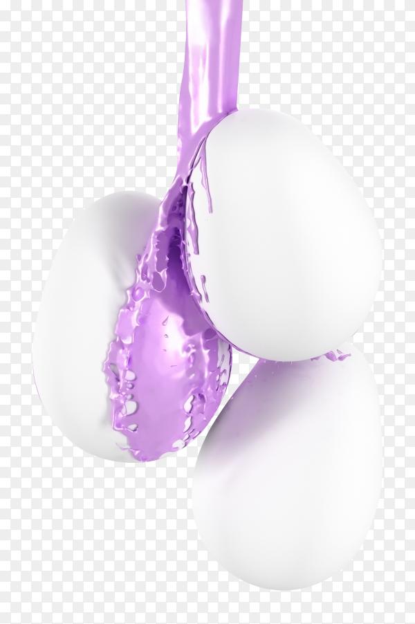 Easter eggs illustration on transparent background  PNG