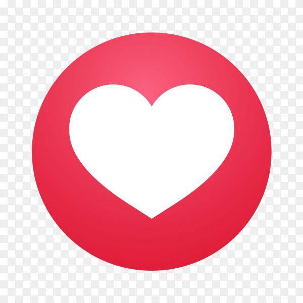 Emoji social media Reaction heart icon vector PNG