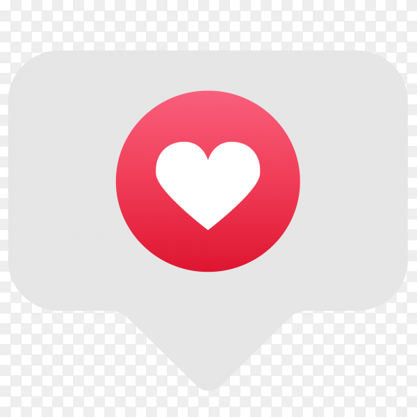 Emoji social network reaction heart icon Clipart PNG
