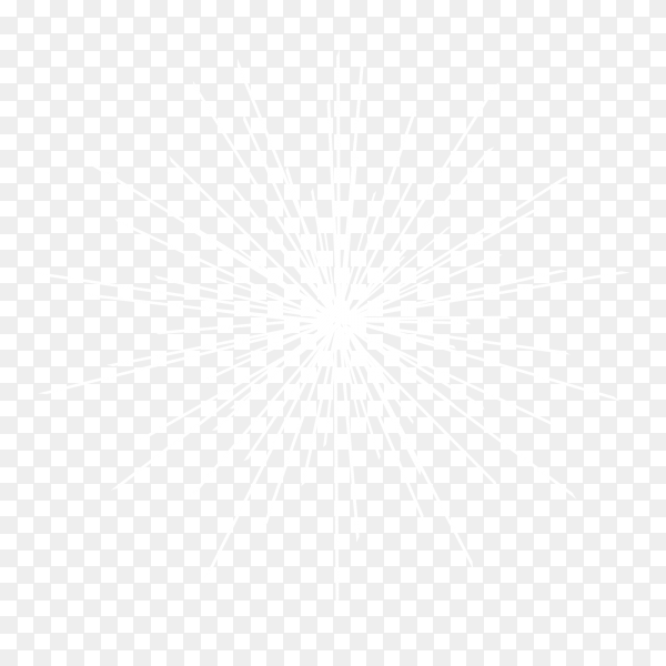 Festive fireworks with bright white sparks Clipart PNG