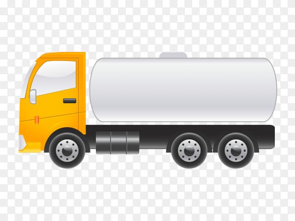 Fuel truck  on transparent background PNG