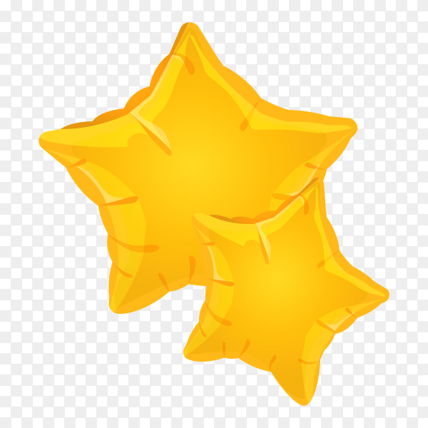 Golden balloons on foil clipart PNG