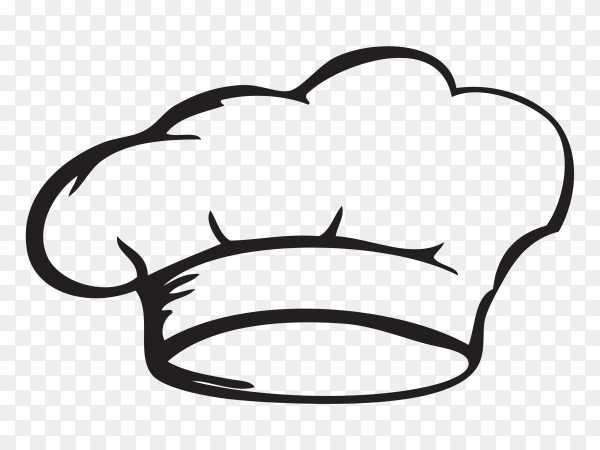 Hand draw chef hat Premium vector PNG