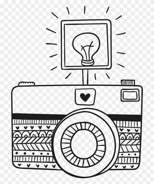 Hand drawn camera illustration Clipart PNG