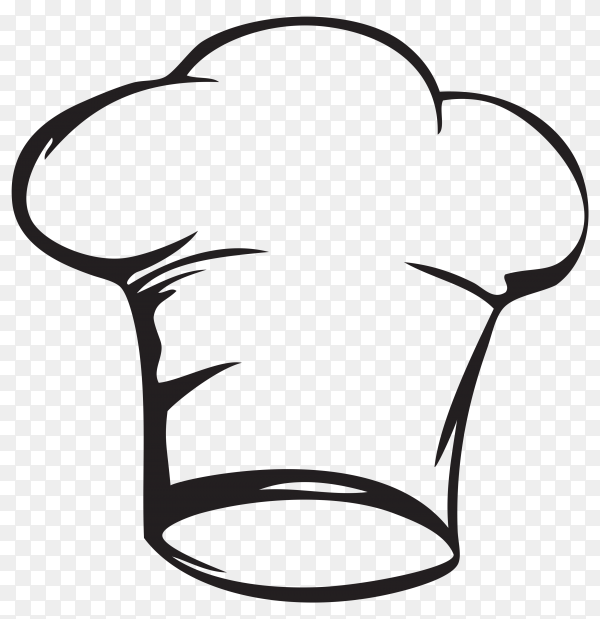 Hand drawn chef hat on trasnparent background PNG