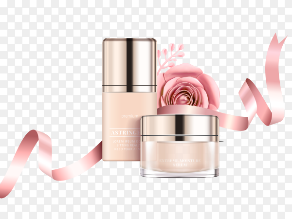 Illustration of cosmetic cream, mask on transparent background PNG