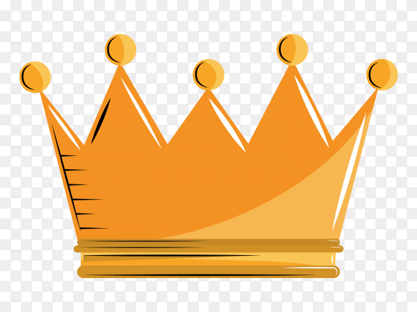 King crown cartoon Premium Vector PNG