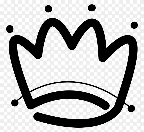 King crown logo icon Clipart PNG