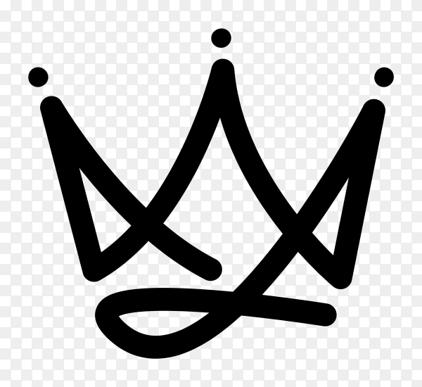 King crown logo icon vector PNG