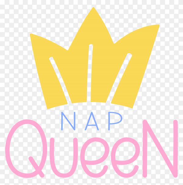 Logo queen with royal crown and lettering