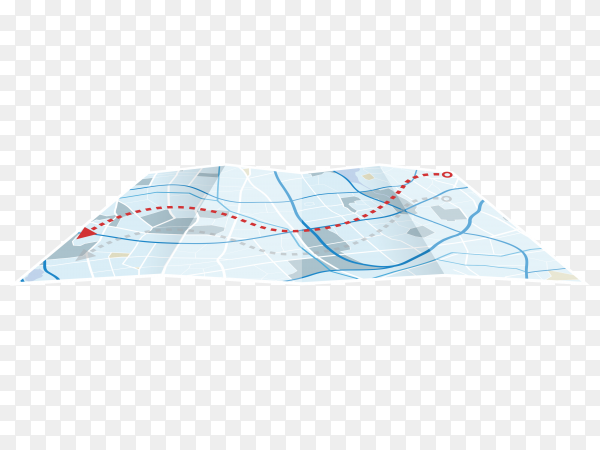 Map blue color on transparent background PNG