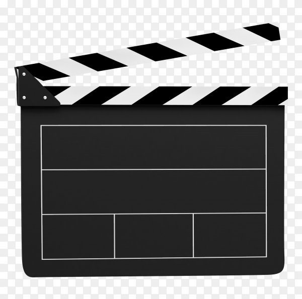 Movie clapper on transparent background PNG