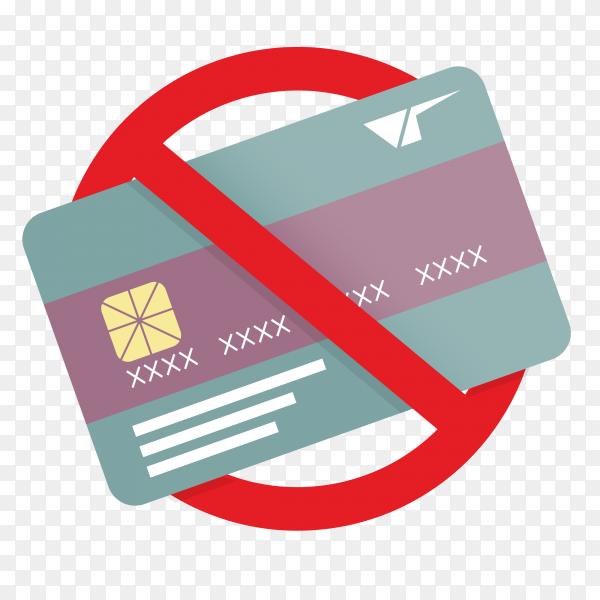 No credit card forbidden sign Premium vector PNG